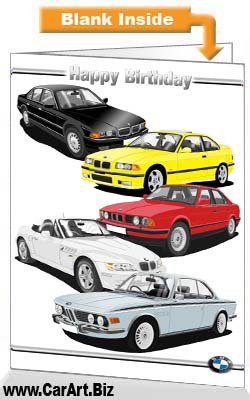 Bmw birthday card from fine lines bmw birthday card bookmarktalkfo Choice Image