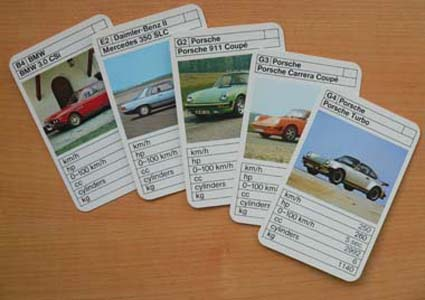 Fine Art Of Classic Modern Sports Rally Police Cars - Sports cars top trumps